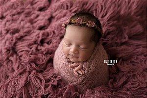 Wrap Mohair - Rosa Envelhecido