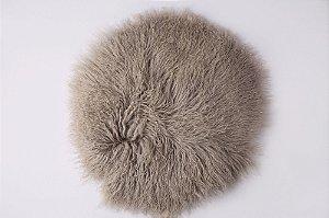 Pelo de Ovelha Curly - Cinza Natural