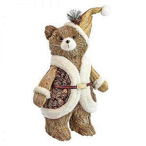 Urso Natural Natal 40cm
