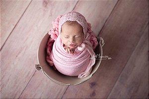 Wrap Knit - Rosa Bebê