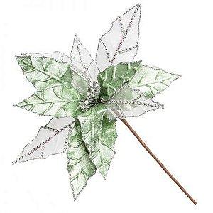 Folha Natalina Verde - 50cm