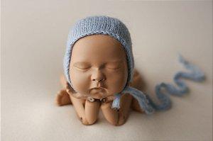 Touquinha de Mohair - Azul Bebê