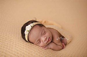 Manta Texturizada - Amarelo bebê