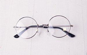 Óculos de grau Redondo Prata