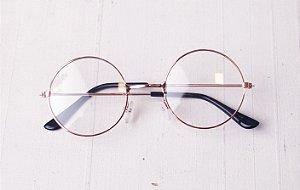 Óculos de grau Redondo Rose Gold