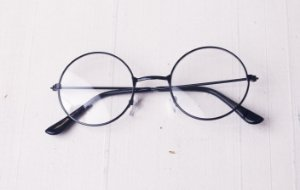 Óculos de grau Redondo Preto