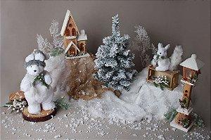Cenário de Natal - Nevado