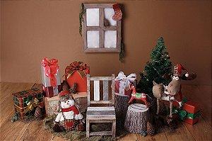 Cenário de Natal - Casa do Papai Noel