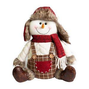 Boneco de Neve Sentado 30cm