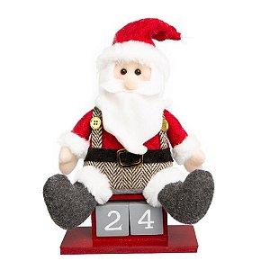Calendário Papai Noel 26cm