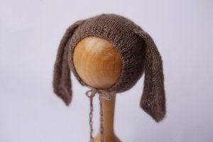 Touquinha de Mohair Bunny - Marrom Acinzentado