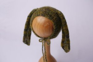 Touquinha de Mohair Bunny - Verde Mesclado