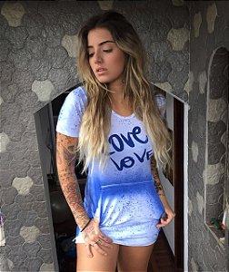 Vestido Love - Blue