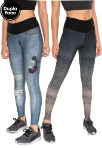 Legging Reversible Flower Jeans
