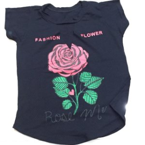 Blusinha Rose - Black