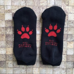 Meia Soquete Patitas - Black & Red
