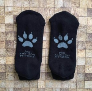 Meia Soquete Patitas - Black & Grey