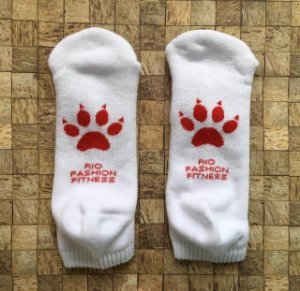 Meia Soquete Patitas - White & Red