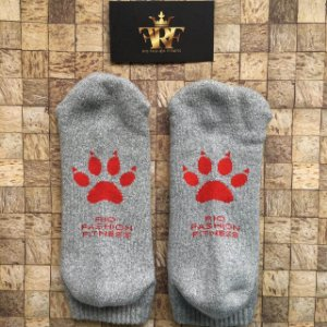 Meia Soquete Patitas - Grey & Red
