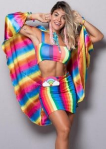 Conjunto Carnaval - Rainbow (Top + Saia)