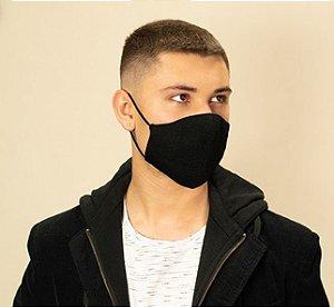 Máscara Anatômica Masculina - Preta