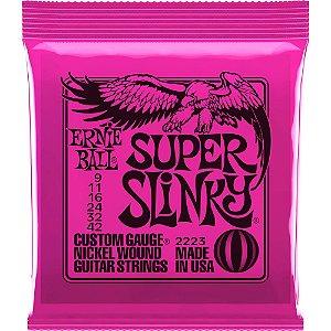 Encordoamento Ernie Ball Guitarra Super Slinky 09
