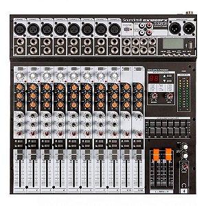 Mesa De Som 12 Canais Com Usb Sx-1202fx Usb - Soundcraft
