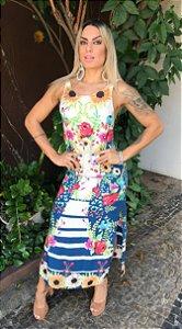 Vestido Vazta Fleurs Villé - PREVIEW SUMMER 2019