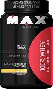 WHEY 100% MAX 900GR BAUNILHA