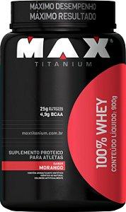 WHEY 100% MAX 900GR MORANGO