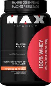 WHEY 100% MAX 900GR VITAMINA DE FRUTAS