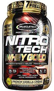 NITRO TECH 100% WHEY GOLD 2.5LBS CREME DE BAUNILHA