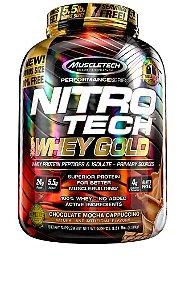 NITRO TECH 100% WHEY GOLD 5.51LBS CHOCOLATE C/ CAPUCCINO