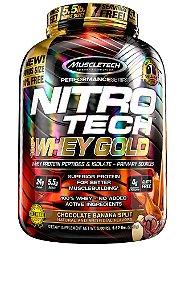 NITRO TECH 100% WHEY GOLD 5.52LBS CHOCO BANANA SPLIT
