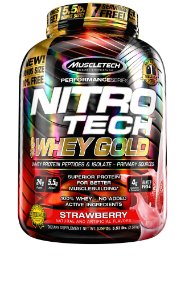 NITRO TECH 100% WHEY GOLD 5.53LBS MORANGO