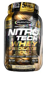NITRO TECH WHEY ISOLATE GOLD 2LBS BAUNILHA
