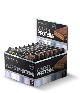 DISPLAY WAFER PROTEIN BAR 12UN-30G CHOCOLATE C/ AVELÃ