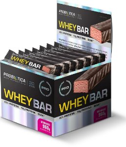 DISPLAY WHEY BAR 24UN-40G MORANGO