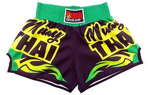 Short Muay Thai Verde