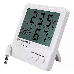 Termo-higrômetro Digital Temperatura Umidade Ambientes 7663