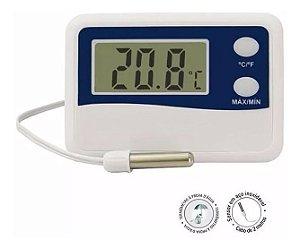 Termômetro Refrigeração Geladeiras, Freezer Cabo 50 Cm