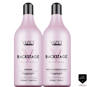 Backstage Nutrição Shampoo + Máscara 1L Vizet Profissional