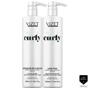Curly Shampoo + Leave In HD 300ml Vizet Profissional