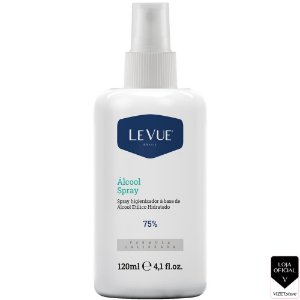 Álcool Spray Higienizador 75% 120ml Levue