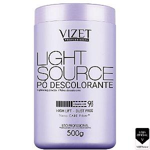 Pó Descolorante Branco 500gr Light Source Vizet Profissional
