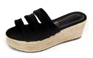 Sandália The Box Project Flatform Twisted Preto