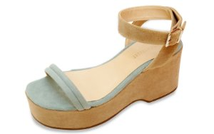 Sandália The Box Project Flatform Clear Nude