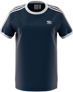 Camiseta 3 Stripes Tee Adidas Navy