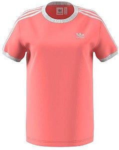 Camiseta 3 Stripes Tee Adidas Rose