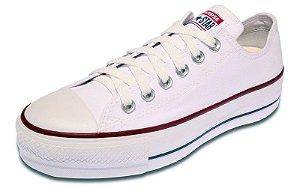 Tenis Converse Chuck Taylor All Star Flatform Branco